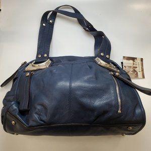 B. Makowsky Navy leather Handbag NEW!